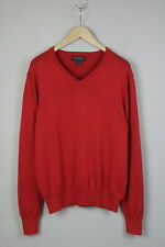 BROOKS BROTHERS SUPIMA COTTON Men's LARGE V Neck Rose Pullover / Sweater 18380_S