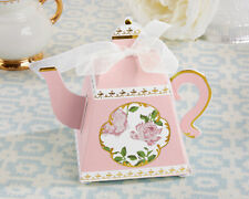 Tea Time Whimsy Teapot Favor Boxes Pink Set of 24 Bridal Shower Favors Weddings