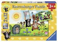 Ravensburger Puzzle Puzzles Kinderpuzzles Lernspass mit Maulwurf 2 x 12 Teile