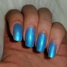 ICY LIGHT BLUE Shiny Nail Polish 15ml indie 5-free handmade vegan cruelty-free