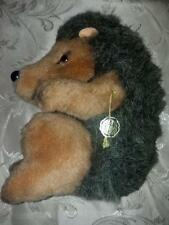 Vintage Baki Pluschtiere German Stuffed Hedgehog With Foil Paper Tag