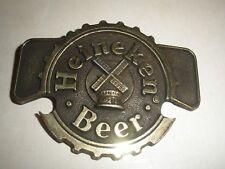 VINTAGE 1970s **HEINEKEN BEER** BREWING COMPANY BRASSTONE BELT BUCKLE