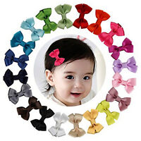 20PCS Baby Big Hair Bows Boutique Girls Alligator Clip Grosgrain Ribbon Cute SP