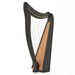 """Heather Harp 22 String  with Levers  - 3 octaves 36"""" height - Black"""