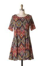 Regular Size Polyester Argyle, Diamond Dresses for Women