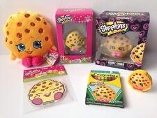 New Shopkins Kooky Cookie Big Fan 6Pc Lot Plush Vinyl Ornament Cling Party Gift
