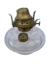 E Miller Venus Made In Usa Kerosene Oil Lamp Base Only 5 Inches Clear Glass