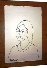 DIEGO RIVERA ORIGINAL INK ON PAPER SIGNED DRAWING