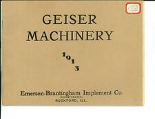 1913 Catalogue of Geiser