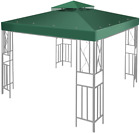 Flexzion 12' X 12' Gazebo Canopy Top Replacement Cover Dual Tier Up