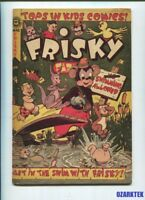 FRISKY #43 ACCEPTED COMICS FUNNY Animals L B COLE COVER  Golden age COMIC VG
