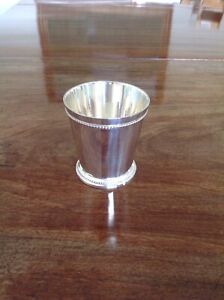 Brand new decorative silver plated julep vase small