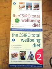 ~THE CSIRO TOTAL WELLBEING DIET 1 & 2 - Clifton & Noakes - VGC~