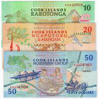 COOK ISLANDS 10 20 50 Dollars SET 3 PCS AAA Prefix 1992 P-8 9 10 UNC
