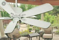 """Casablanca ceiling fan """"Compass Point"""" 60"""" distressed white"""