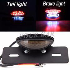 Motorcycle Rear Brake Stop Light License Plate Bracket LED Custom Tail Light