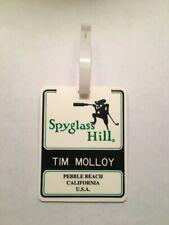 Vintage Rare Spyglass Hill Golf Course Golf Bag Tag - Pebble Beach Resorts
