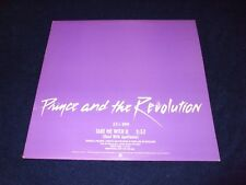 "PRINCE & THE REVOLUTION  - TAKE ME WITH YOU  12"" MINT / NEVER PLAYED / PROMO"