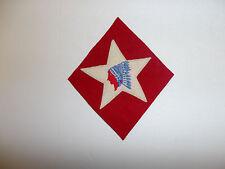 b5714 WW1 US USMC 1-6th Marine Regiment  2nd Division Indian patch blue R5C