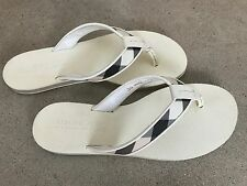 Burberry Women's Flip Flop with Check Pattern Sz 36 US 6 - Made In Italy