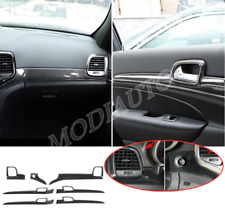 7X ABS carbon Inner handle + dashboard cover For Jeep Grand Cherokee 2011-20