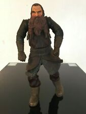 LARGE GIMLI DWARF 9 INCH ACTION FIGURE LORD OF THE RINGS LOTR MARVEL 2003