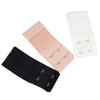 3Pcs Bra Extenders Strap Extension Adjustable Replacement Buckle 2 Hooks FDCA