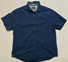 Cactus Slim Fit Short Sleeve Button-Front Shirt Button Down Shirt Men's Size XL