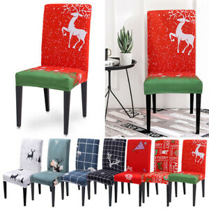 Christmas Decor Chair Covers Seat Cover Santa Claus Home Party Decoration