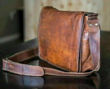 Handmade Leather Messenger Satchel Men Laptop Bag Business Vintage Briefcase