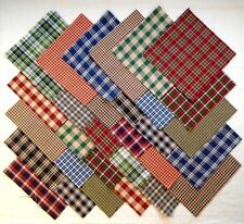 """HOMESPUN PLAIDS 5"""" Squares, 100% Cotton Prewashed,  Quilting Fabric (#D/70A)"""