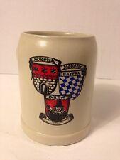 Rare Schöffbrau Stoneware 0.5L Stein Mug Ingolstadt Bayern Since 1700 German