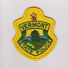 Vermont State  State Police Highway Patrol Police Hat Patch