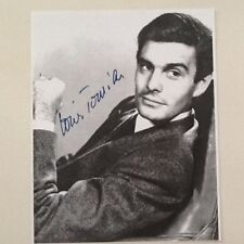 Louis Jourdan SIGNED Paper Photo  50s Actor   Gigi   Madame Bovary