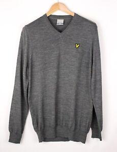 Lyle & Scott Herren Wolle Acryl Pullover Sweatshirt Größe M ASZ814