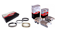 Main & Rod Bearings Set w/ Cast Piston Rings for Ford FE 360 390 5.9L 6.4L