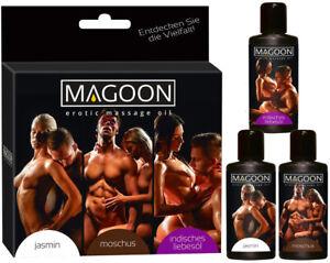 Magoon® 150 ml - 3 Flaschen  zu je 50 ml  Pflegendes Erotik  Massage  -Öl Erotik