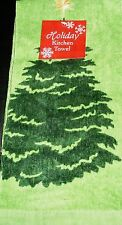 "Christmas  Kitchen Towel   100% Cotton  15"" X 25"" CHRISTMAS TREE"