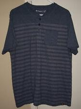 Vintage Airwalk Blue/Gray Striped Pocket T-Shirt X-Large Mens XL Skateboard