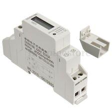 LCD 230V 5(30) A Power Meter Contatore di Energia elettrica KWH Guida DIN Rail