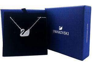 New Authentic Swarovski Sparkle Crystal Iconic Swan Pendant Necklace 5007735