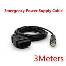 Universal OBD2 Automotive ECU Emergency Power Supply Cable Memory Saver Black