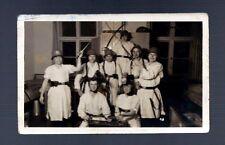 Vintage 1930's GERMAN SOLDIERS REAL PHOTO POSTCARD INITIATION DRESS HUMOR SWORD