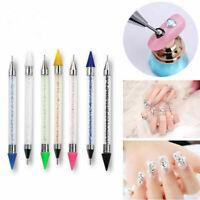 Nail Art Dotting Tool Pen Dual-ended Gem Crystal Rhinestone Picker Nail Manicure