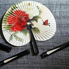 3pc/lot Folding Chinese Oriental Floral Hand Paper Fans Wedding Favor Table Gift