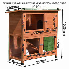 Rabbit Hutch LARGE Classic Two Storey Ferret Run Guinea Pig Cage Two Trays P056