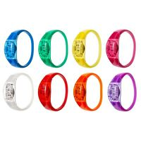 New Sound Activated LED Bracelet Light Up Flashing Voice Control Bangle Band UK