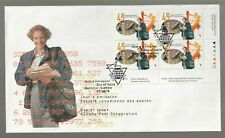 1997 Canada PTT Congress Plate Block FDC. First day Cover