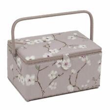 HobbyGift Extra Large Sewing Basket - Lilac Blossom Design Gift