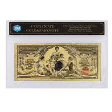 1896 Year One Dollar 24k Gold Foil Gold Banknote Colorful World Money In COA